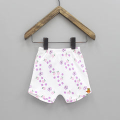 Flower Printed Cotton Shorts