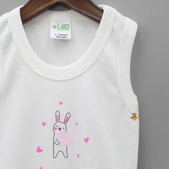 Hearty Bunny Printed Cotton Bodysuit