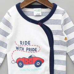 Ride With Pride Stripped Full Sleeves Cotton Jhabla
