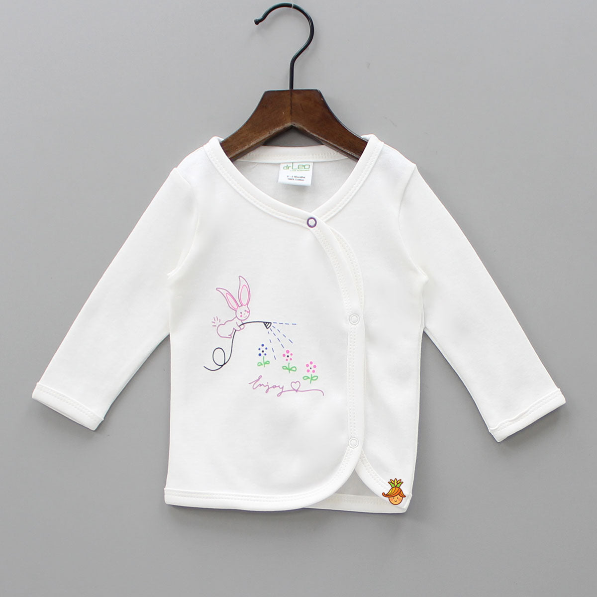 Happy Bunny Full Sleeves Cotton Jhabla