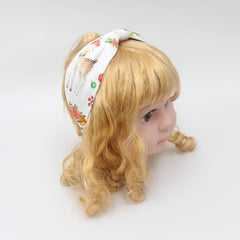 Christmas Wreath And Reindeer Print Hair Band