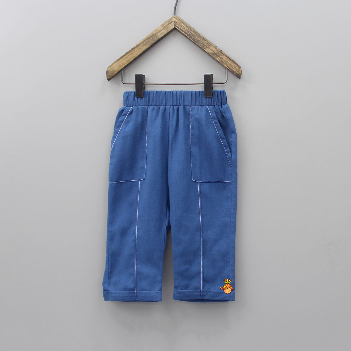 Pre Order: Blue Pant With Pockets