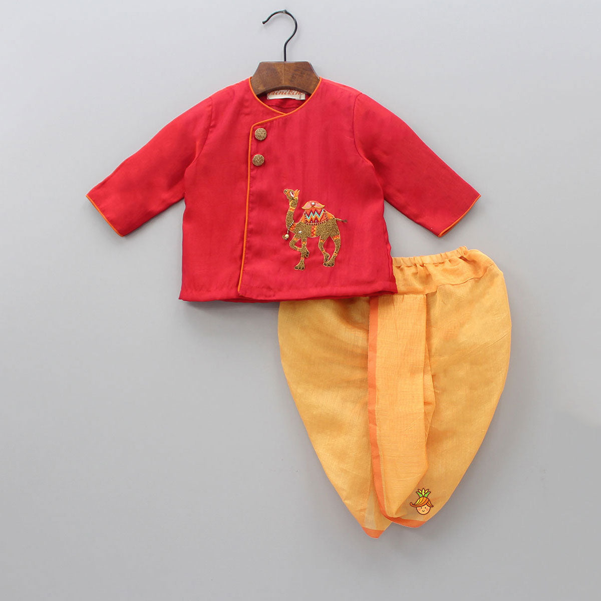 Pre Order: Camel Angarkha With Dhoti