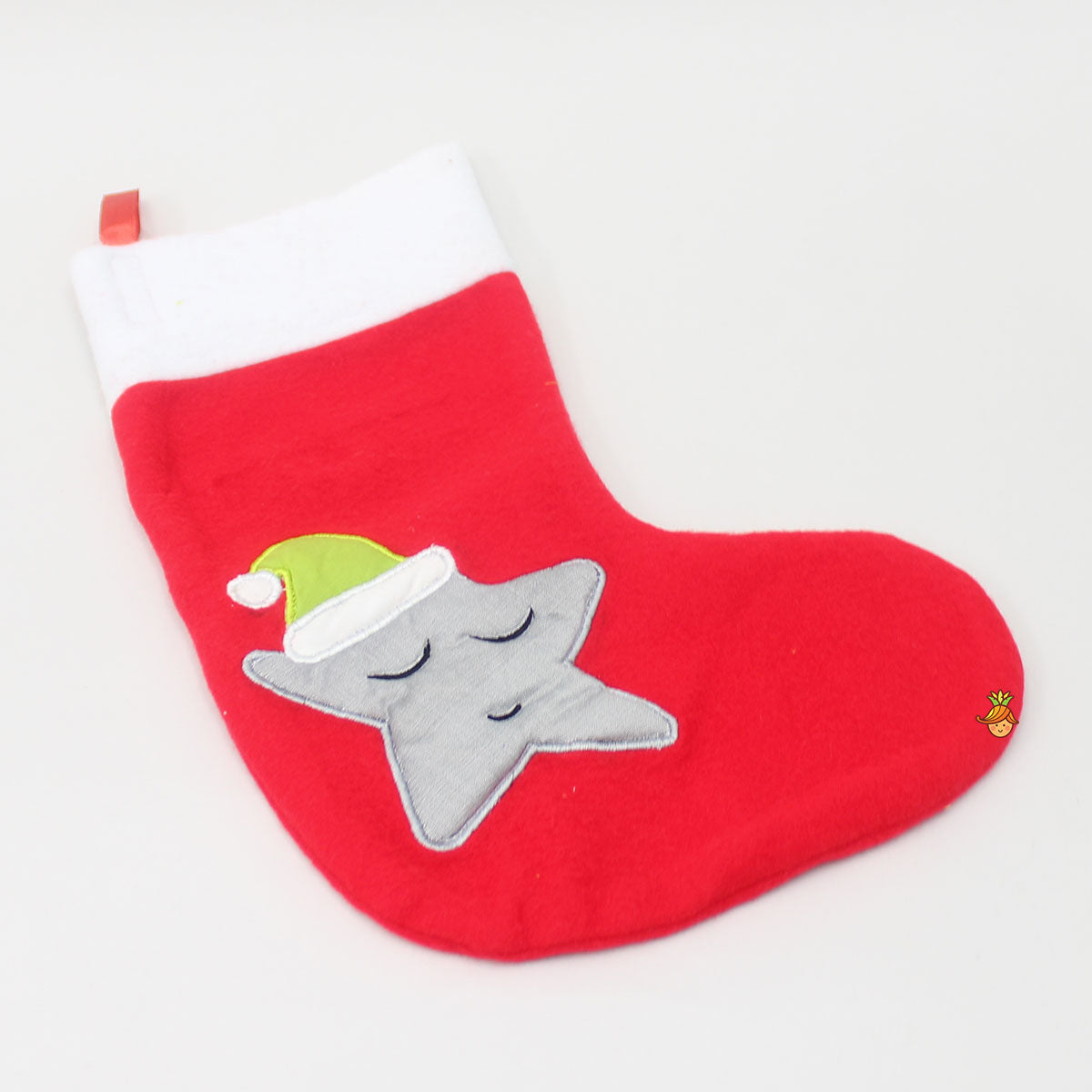 Christmas Star Patch Flannel Stocking