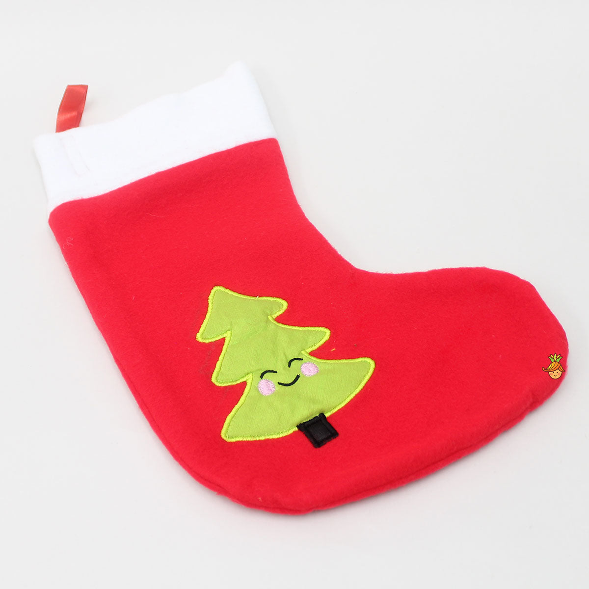 Christmas Tree Patch Flannel Stocking