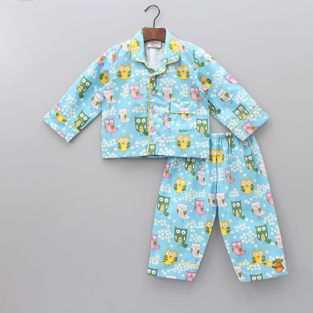 Pre Order: Floral And Owl Print Sleepwear