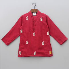 Pre Order: Embroidered Kurta And Pyjama
