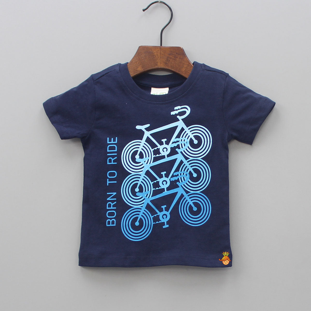 Born To Ride Navy Blue Cotton Ride