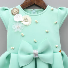 Pre Order: Pearl Embellished Dress With Bowy Hairband
