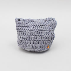 Grey Crochet Sling Bag