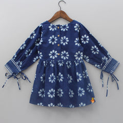 Pre Order: Blue Floral Printed Dress