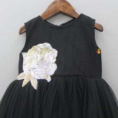 Pre Order: Beaded And Sequin Floral Work Up And Down Dress With Hair Clip