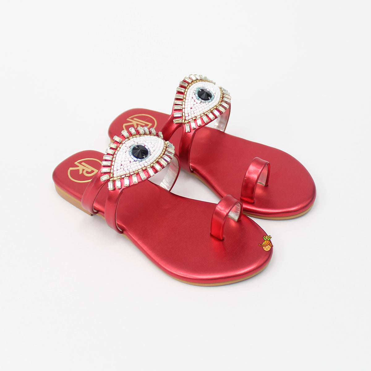 Red Evil Eye Sandal