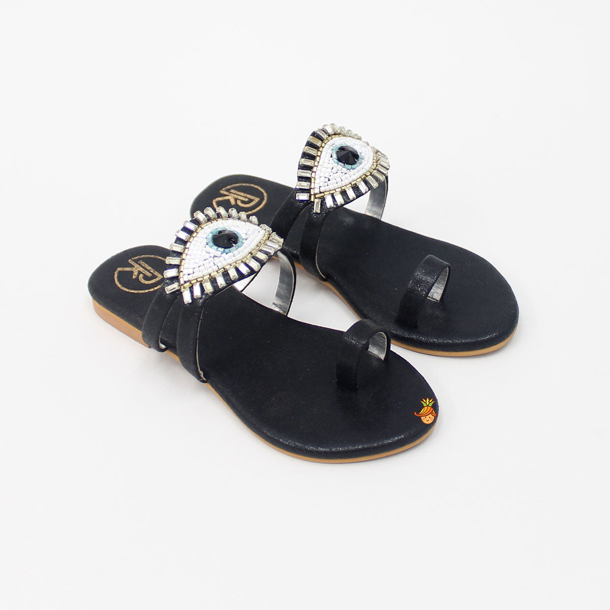 Black Evil Eye Sandal