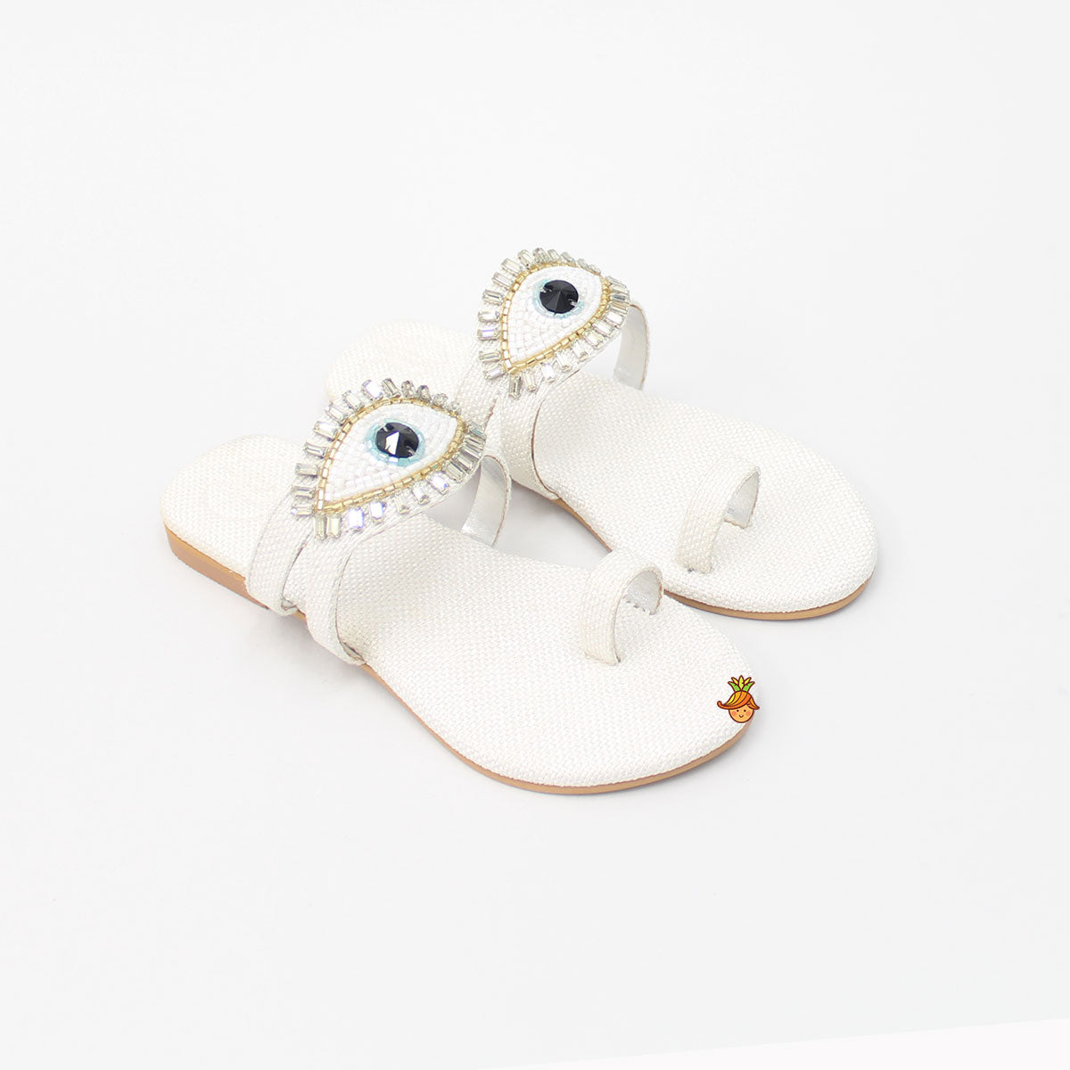 White Evil Eye Sandal