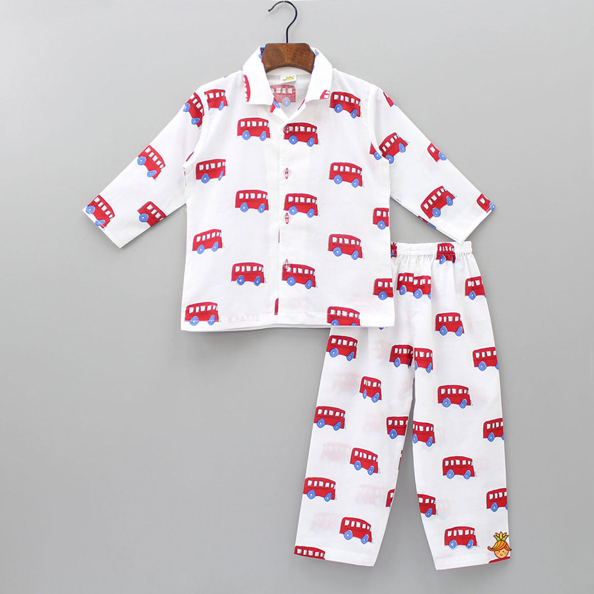 Red Bus Printed Sleepwear