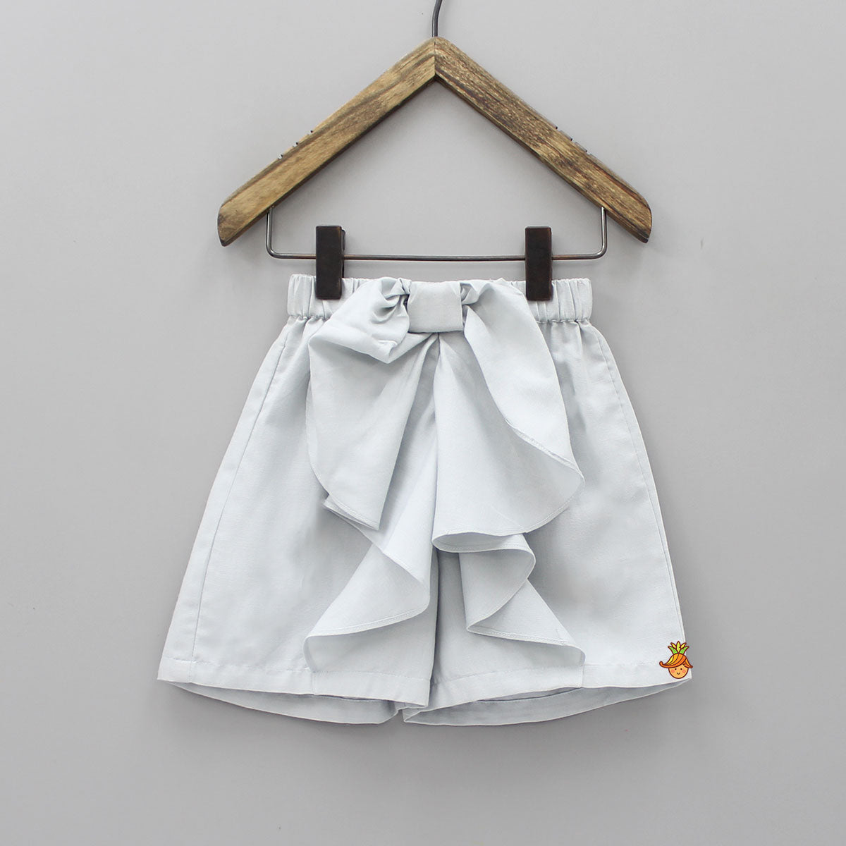 Grey Frilly Bow Shorts