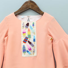 Popsicle Embroidered Top