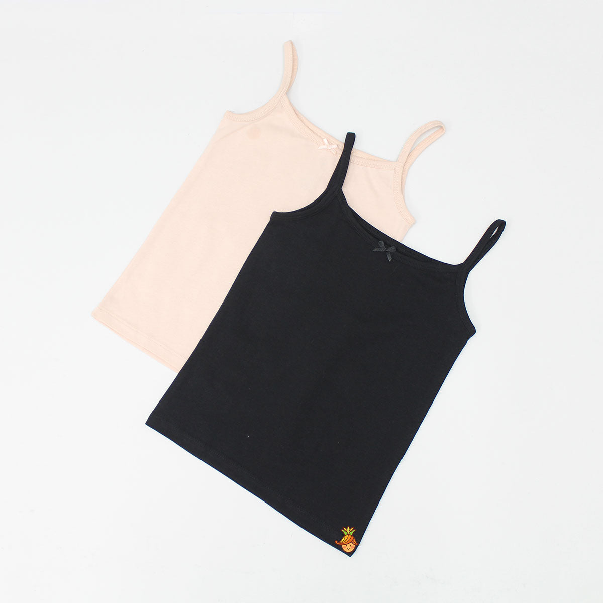 Black And Peach Vests - Set Of 2