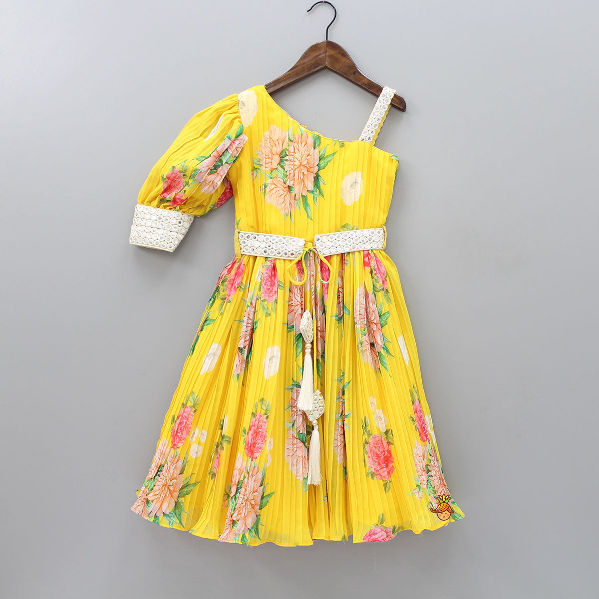 Pre Order: Stylish Floral Printed Pleated Dress