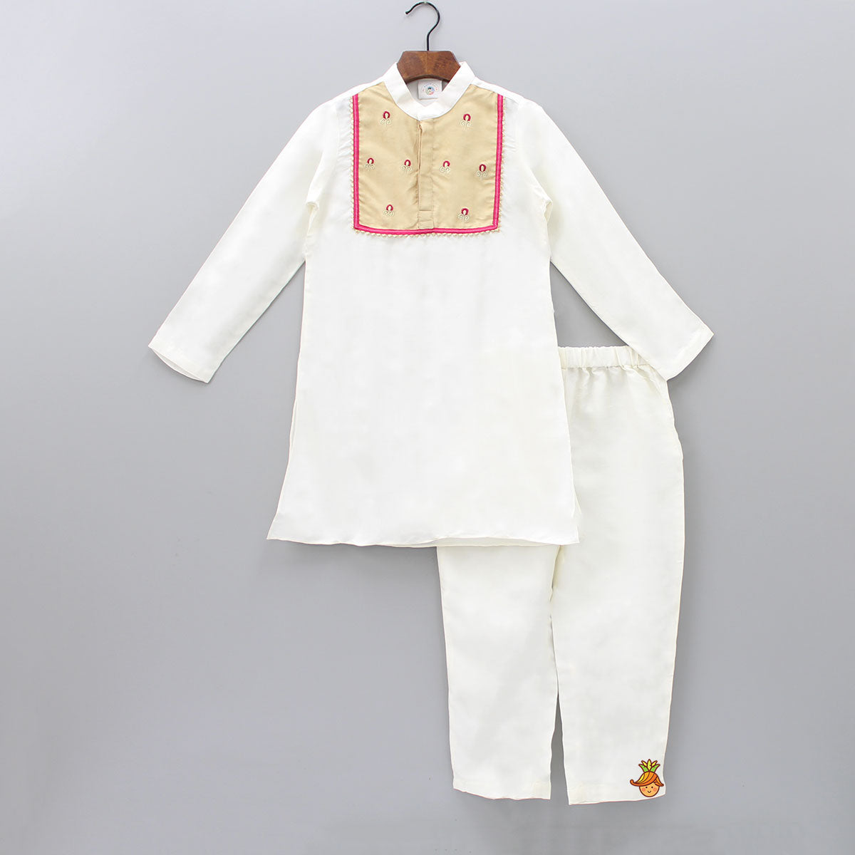 Pre Order: Organic Placket Kurta With Pant