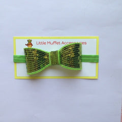 Sequins Bow - Green