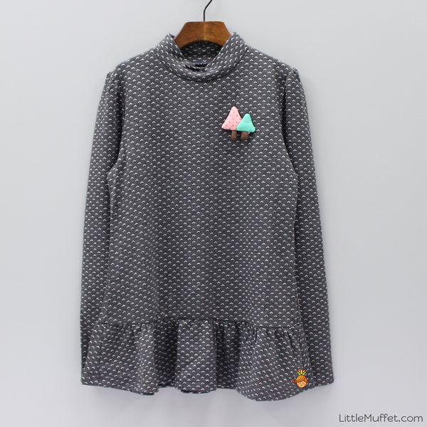 Jolly Tunic- Grey & White