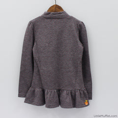 Jolly Tunic - Grey & Red