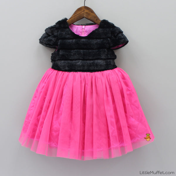 Sweetpea Quilted and Faux fur Winter Dress