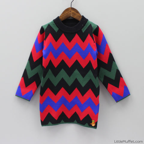 Multicolour Sweater Dress