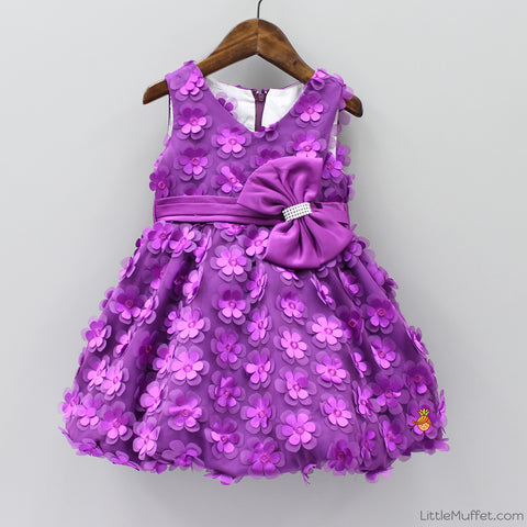 Flowery Purple Dress