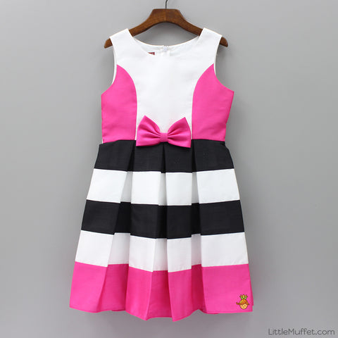 Bow And Stripes Dress