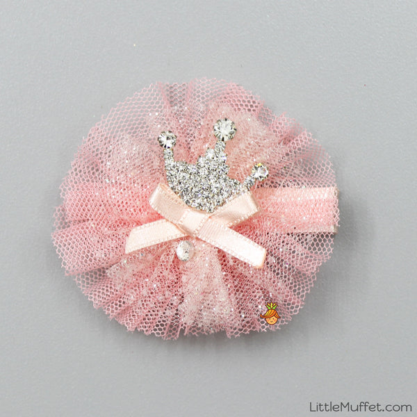 Peach Crown Clip