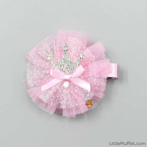 Baby Pink Crown Clip