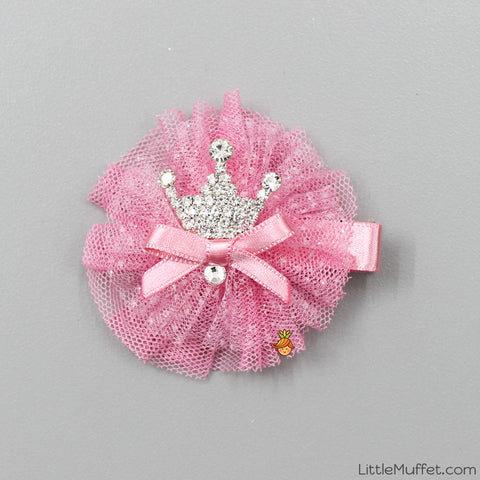 Pink Crown Clip