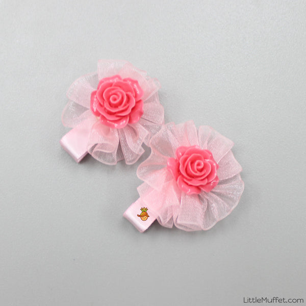 Roses- Peach & Pink- Set Of 2