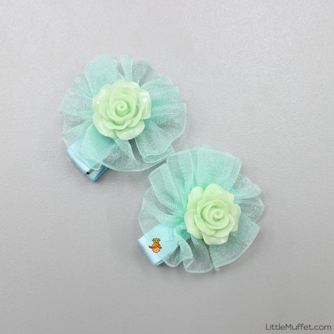 Roses- Green- Set Of 2