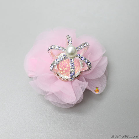 Crown Clip- Baby Pink