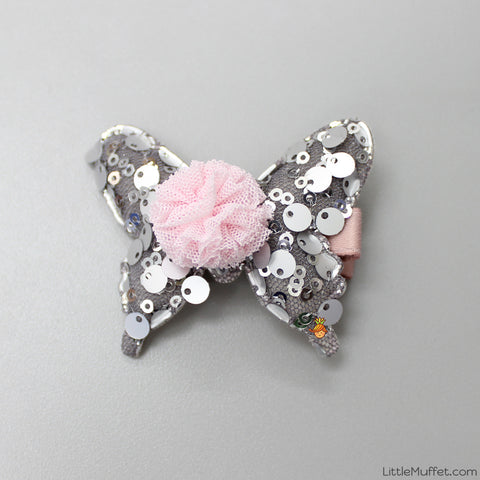 Butterfly Clip- Silver