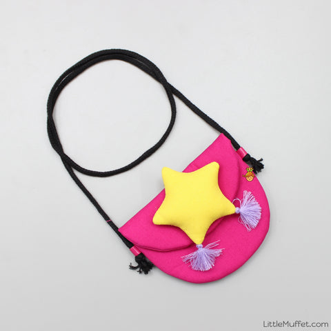 Star Bag - Pink & Yellow