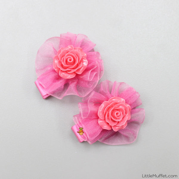 Roses- Hot Pink- Set Of 2