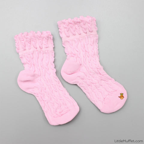 Self Design Socks- Pink