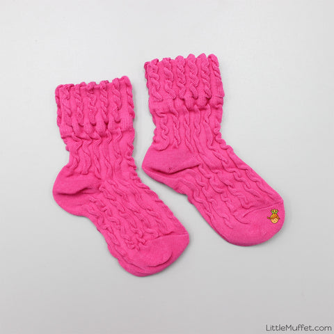 Self Design Socks- Hot Pink
