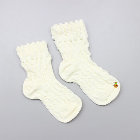 Self Design Socks- Cream
