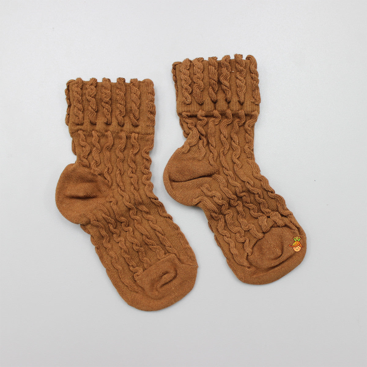 Self Design Socks- Brown