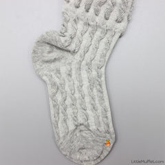 Self Design Socks- Grey