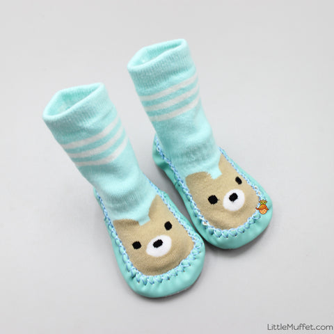 Slipper Socks - Light Green