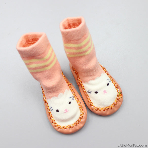 Slipper Socks - Peach