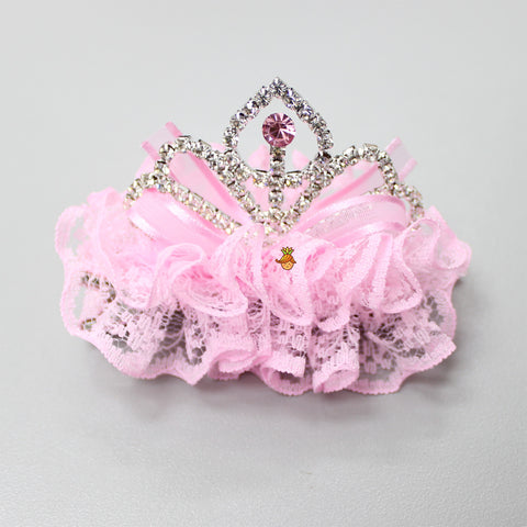 Princess Crown Clip- Baby Pink