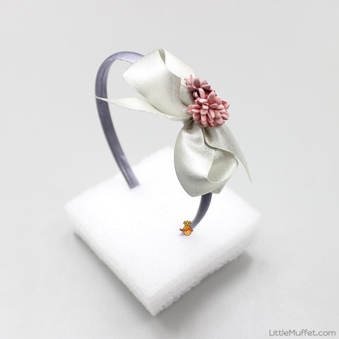 Flowery Bow - Silver